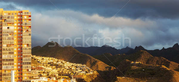 Panorama of Santa Cruz de Tenerife Stock photo © benkrut