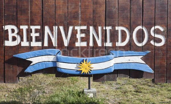 Argentina bem-vindo assinar viajar Foto stock © benkrut