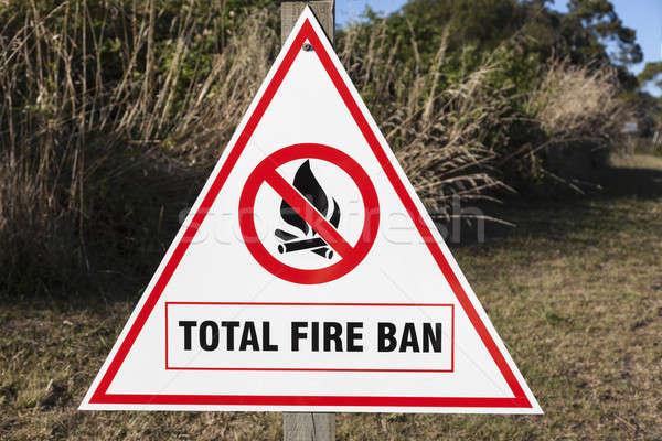 Ognia zakazu podpisania Nowa Zelandia podróży biały Zdjęcia stock © benkrut