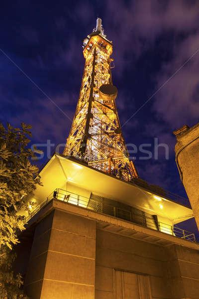 Metallic tower of Fourviere in Lyon Stock photo © benkrut