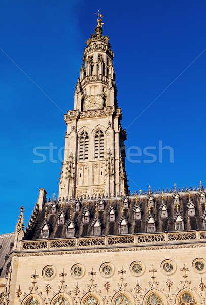 Stadhuis plaats hemel huis stad kerk Stockfoto © benkrut