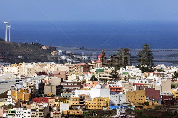 パノラマ 午後 カナリア諸島 スペイン 市 ストックフォト © benkrut