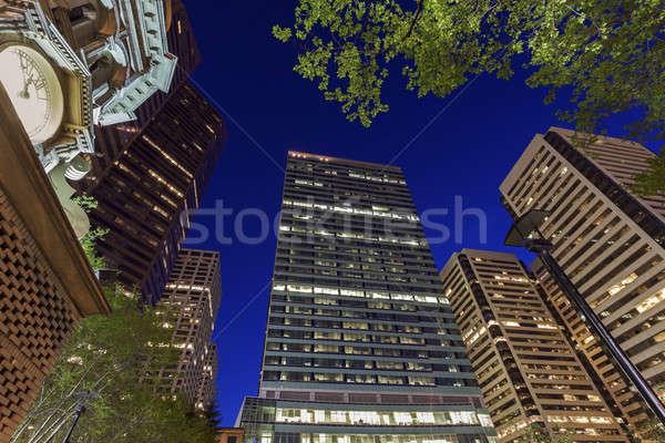Architectuur calgary Canada stad reizen energie Stockfoto © benkrut