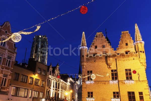 Maison région Belgique ville bleu Voyage Photo stock © benkrut