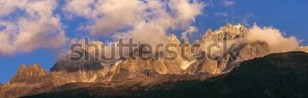 Alps peaks in Chamonix area Stock photo © benkrut