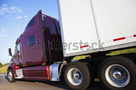 Semi truck in motion Stock photo © benkrut