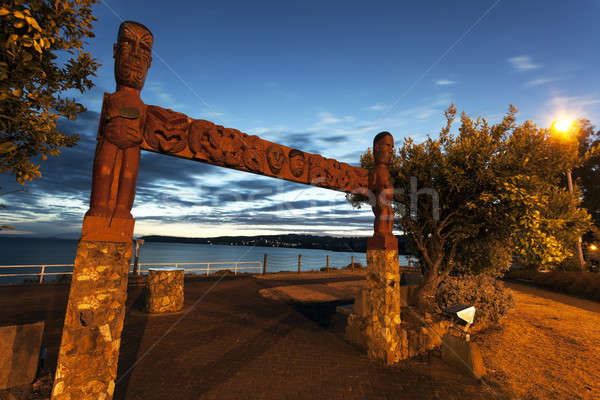 Sunset in Taupo, New Zealand   Stock photo © benkrut