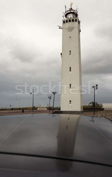Phare holland Pays-Bas Voyage architecture Photo stock © benkrut
