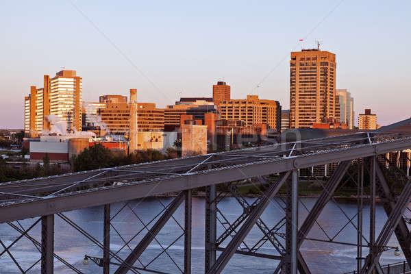 Stock photo: Alexandra Bridge and skyline of Gatineau