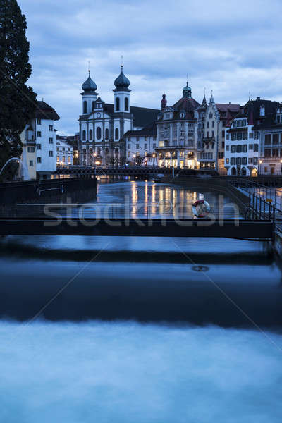 Stock photo: Jesuit Church and Reuss River