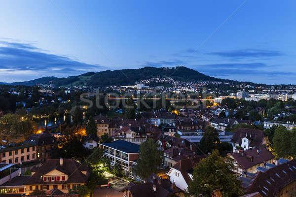 Architecture of Bern at night Stock photo © benkrut