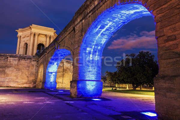 Saint Clement Aqueduct in Montpellier Stock photo © benkrut