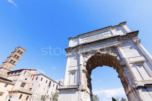 Arch Roma costruzione blu viaggio skyline Foto d'archivio © benkrut