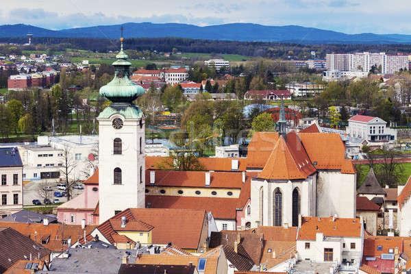 Panorama of Ceske Budejovice Stock photo © benkrut