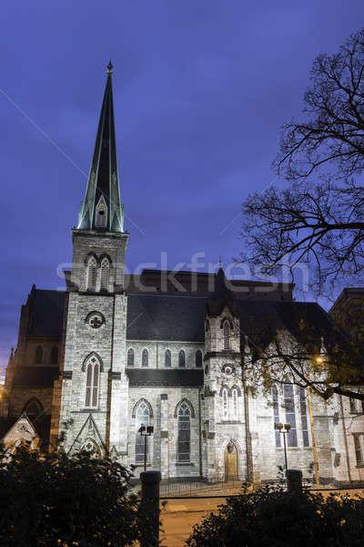 Church in downtown of Harrisburg Stock photo © benkrut