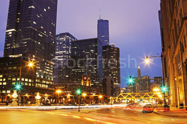 Franklin Street and Walker Drive in Chicago Stock photo © benkrut