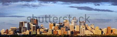 Panorama calgary panoramisch stad zonsopgang Stockfoto © benkrut