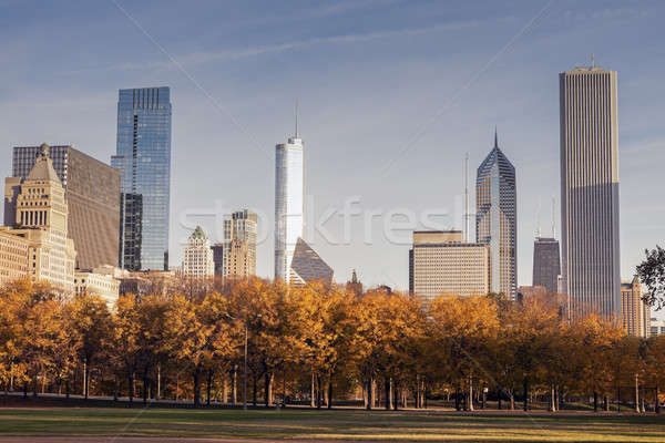 Autumn in Chicago Stock photo © benkrut