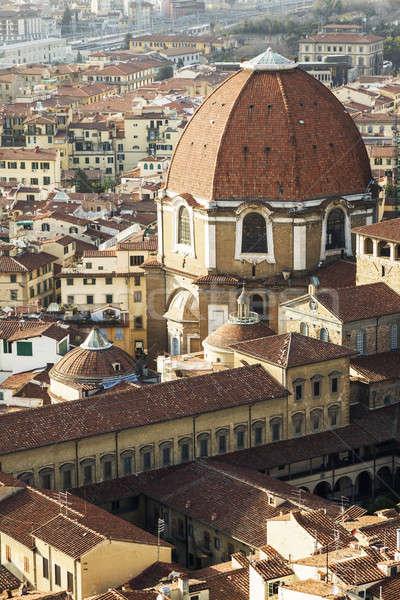 Bazilika Florence Toszkána Olaszország város utca Stock fotó © benkrut