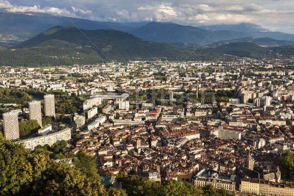 Grenoble architecture - aerial view  Stock photo © benkrut