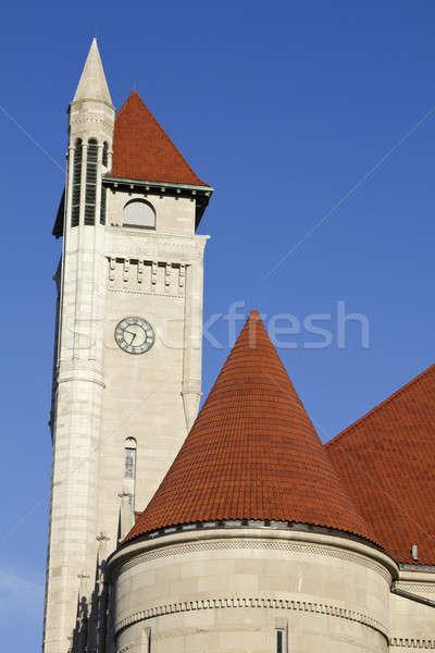 Foto stock: Relógio · torre · união · estação
