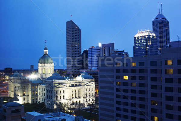 State Capitiol Building in downtown Indianapolis Stock photo © benkrut