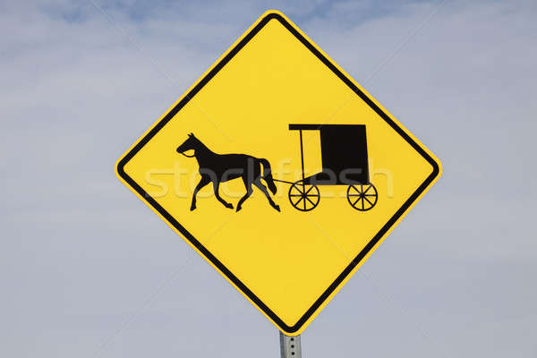 Amish carriage sign Stock photo © benkrut
