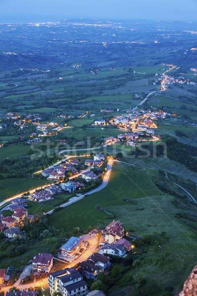 Vista from San Marino Stock photo © benkrut
