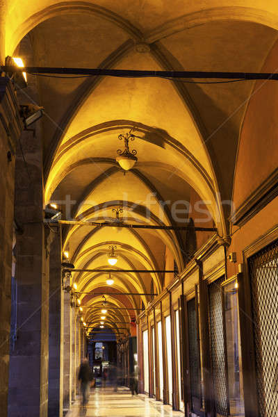Arches in old town of  Bologna Stock photo © benkrut