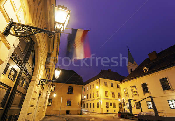 Architecture of old upper town in Zagreb  Stock photo © benkrut