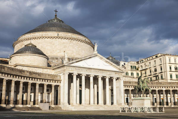 San Francesco di Paola Church in Naples Stock photo © benkrut