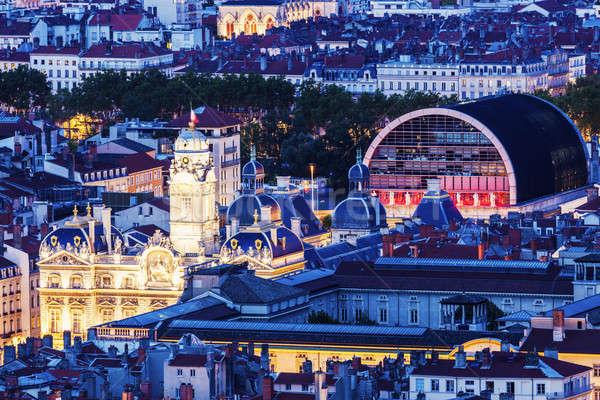Panorama Lyon cidade ouvir casa Foto stock © benkrut