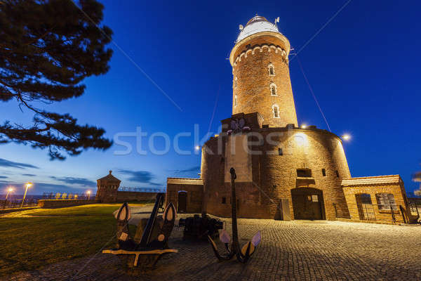 Kolobrzeg lighthouse at night Stock photo © benkrut