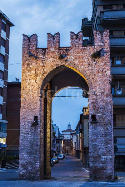 Porta San Felicianetto in Foligno Stock photo © benkrut