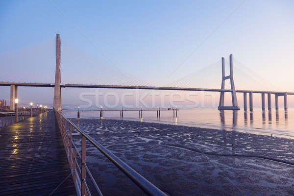 Vasco da Gama Bridge in Lisbon Stock photo © benkrut