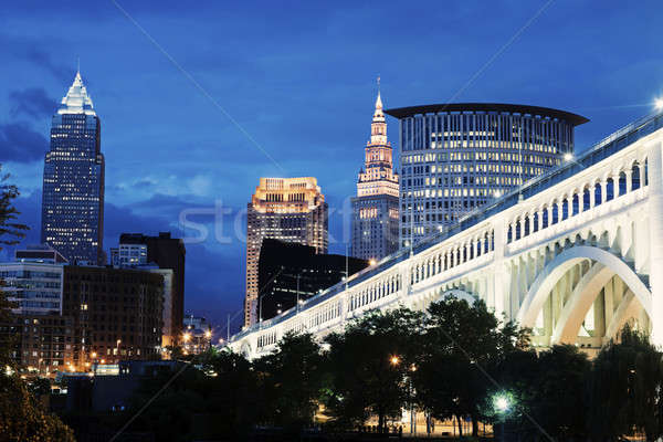 Cleveland skyline Stock photo © benkrut