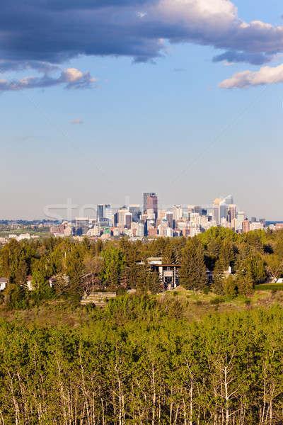 Distant view of Calgary Stock photo © benkrut