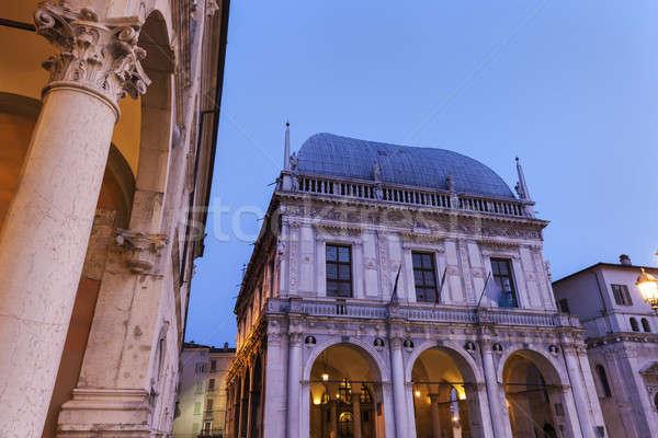 La Loggia (Town Hall) in Brescia,  Stock photo © benkrut