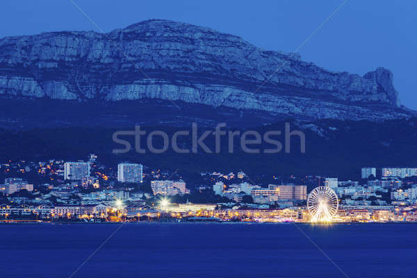 Marseille panorama from Frioul archipelago Stock photo © benkrut
