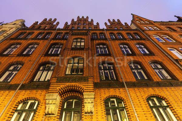 старый город зале снизить дома путешествия ночь Сток-фото © benkrut