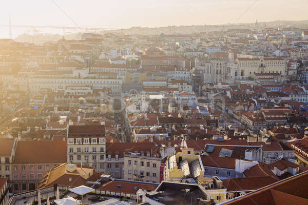 Панорама закат город природы улице Церкви Сток-фото © benkrut