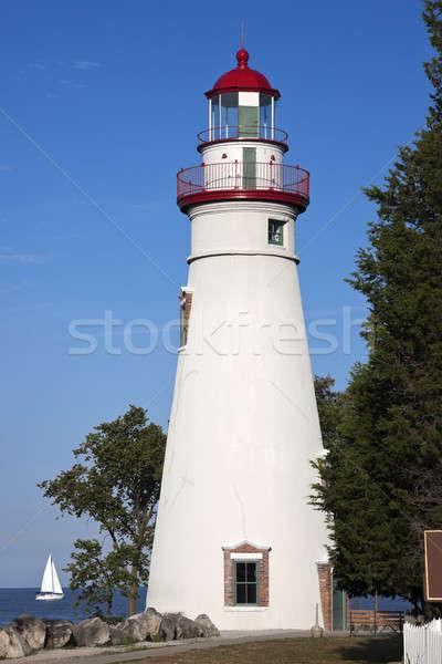 Deniz feneri Ohio ABD gökyüzü pencere mavi Stok fotoğraf © benkrut