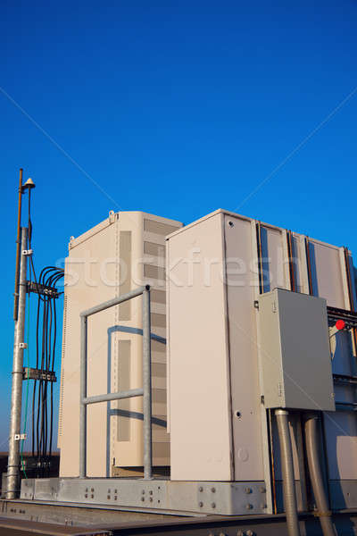 Radio cabinet on the cell tower site Stock photo © benkrut