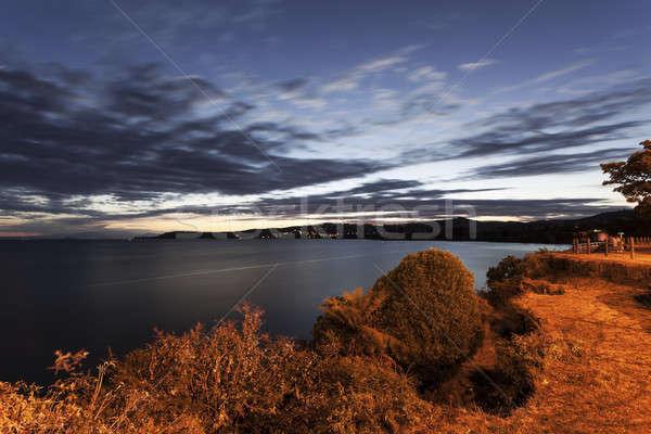 озеро Новая Зеландия закат небе Сток-фото © benkrut