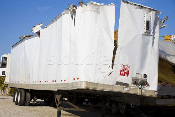 White trailer after accident  Stock photo © benkrut