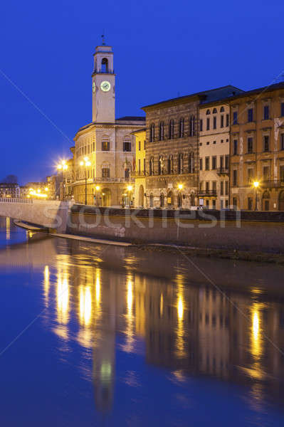Pisa architecture with the clock tower Stock photo © benkrut