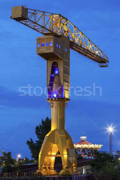 Titan crane in Nantes Stock photo © benkrut