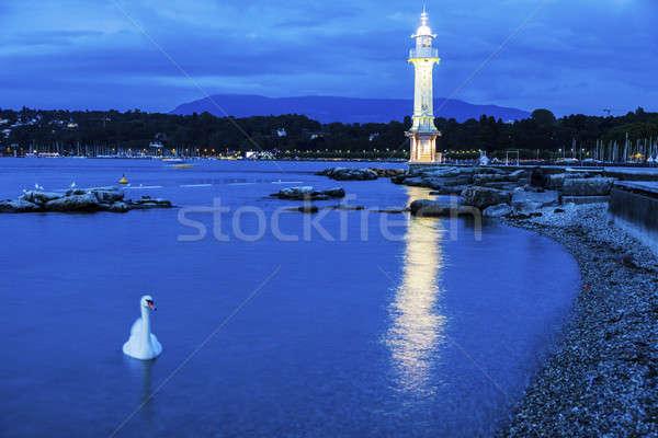 Geneva Lighthouse Stock photo © benkrut