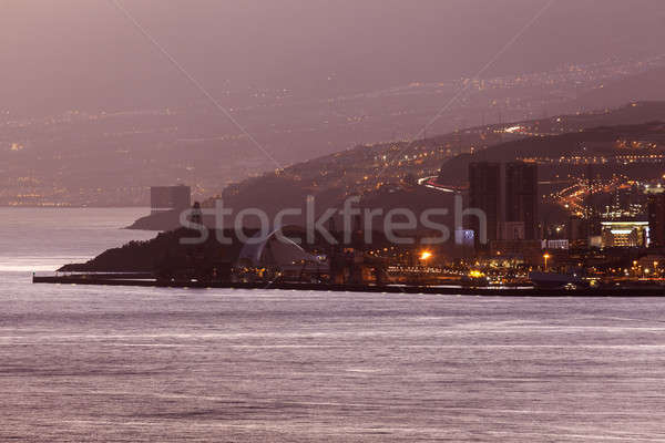 Tenerife panorama Spanje stad Stockfoto © benkrut