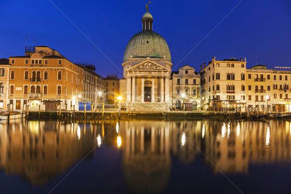 Kilise kanal Venedik şehir seyahat ufuk çizgisi Stok fotoğraf © benkrut
